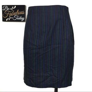 Vintage Vertical Pinstripe Pencil Skirt